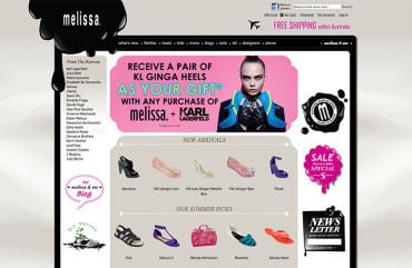 Melissaaustralia.com.au - Homepage
